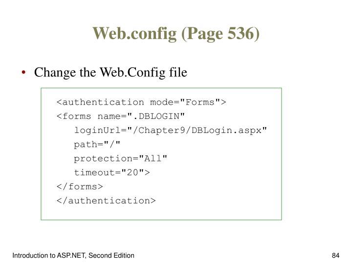 Web.config (Page 536)