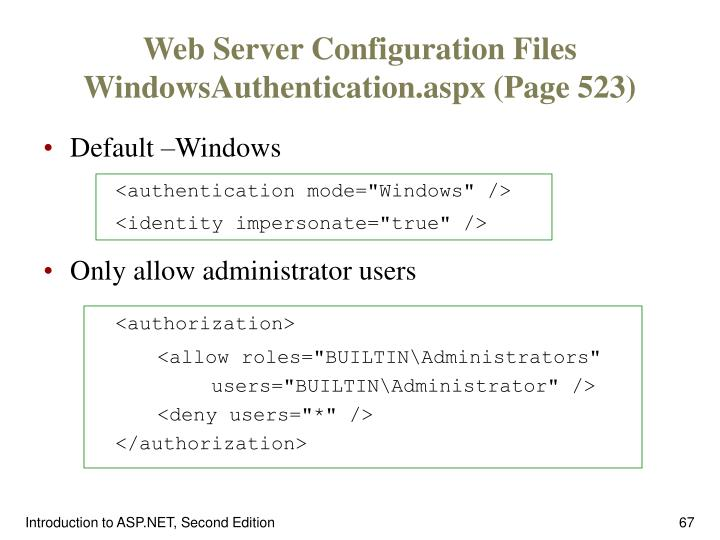 Web Server Configuration Files