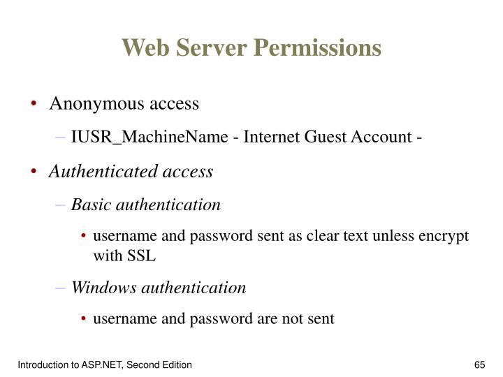 Web Server Permissions