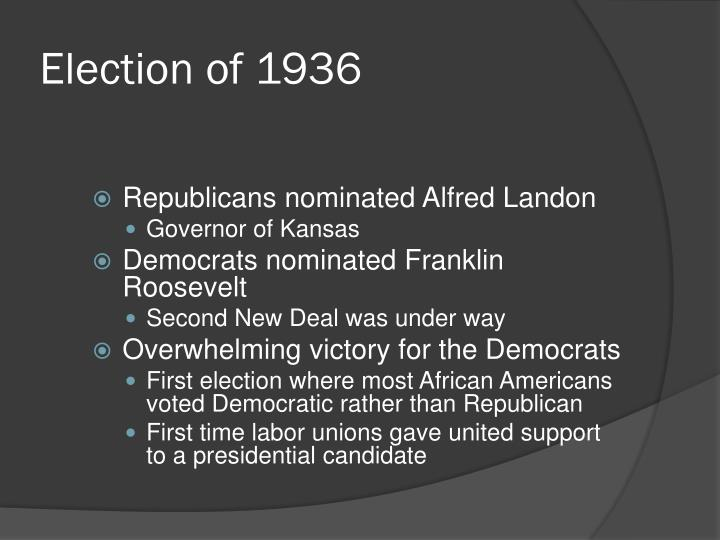 Election of 1936