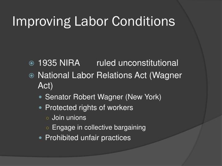 Improving Labor Conditions