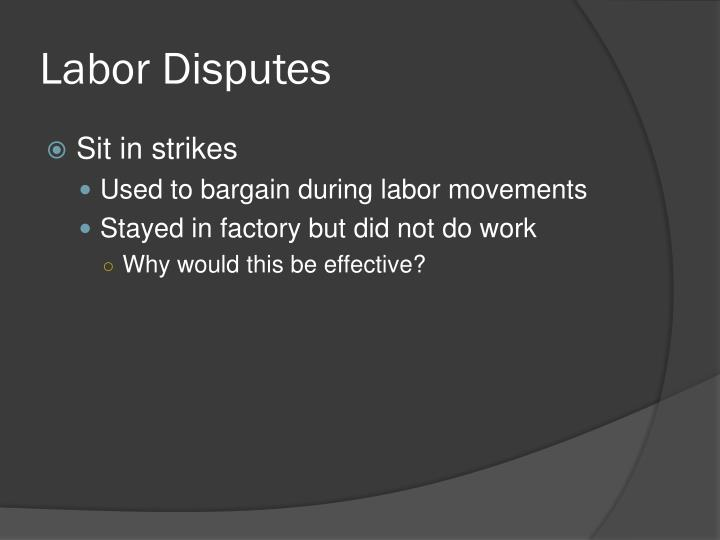 Labor Disputes