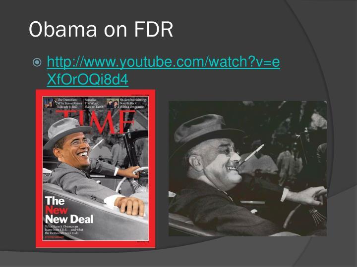 Obama on FDR