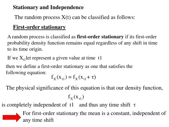 Stationary and Independence