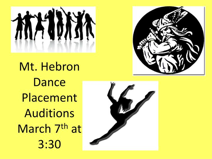 Mt. Hebron Dance Placement Auditions