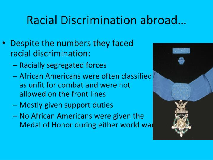 ethnic groups and discrimination african americans A number of previous studies indicate that the prevalence of perceived discrimination varies by ethnic groups, such as african-americans, asian americans and hispanic americans (naff 1995 naff, katherine.