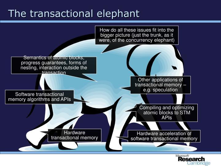 The transactional elephant