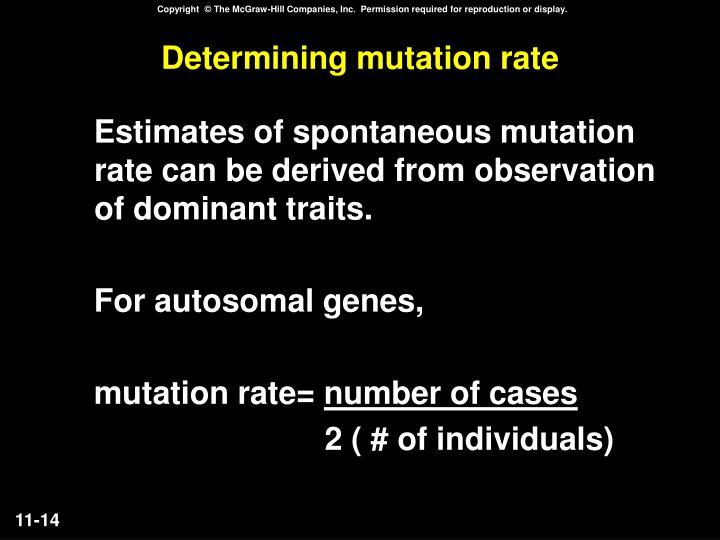 Determining mutation rate