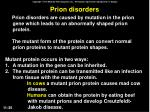 prion disorders