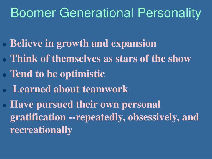 Boomer Generational Personality