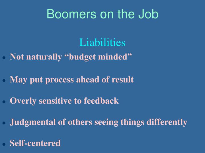 Boomers on the Job