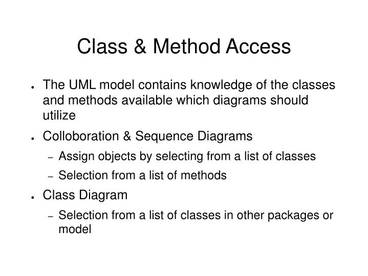 Class & Method Access