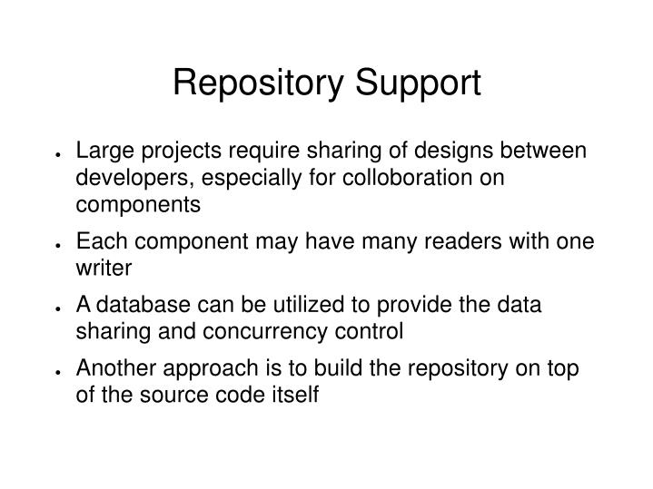 Repository Support