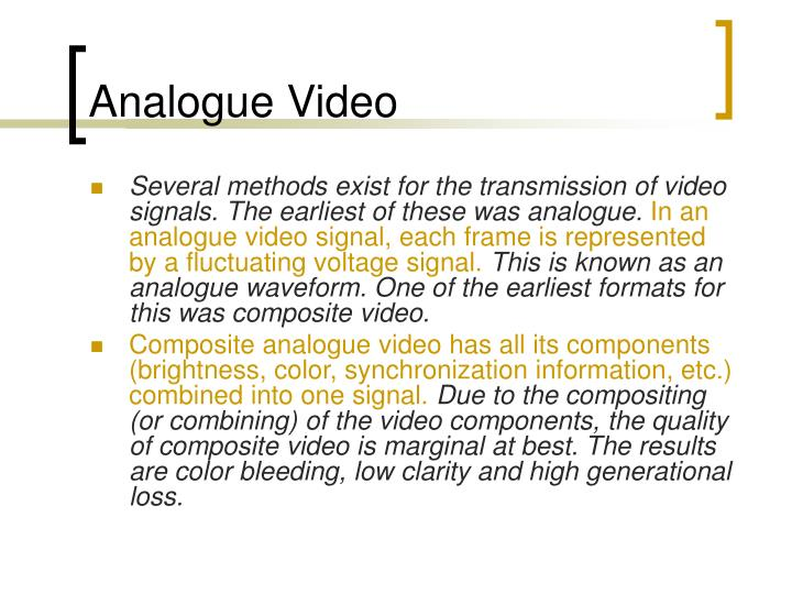Analogue Video