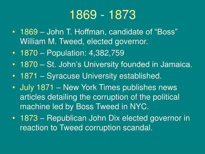 1869 - 1873