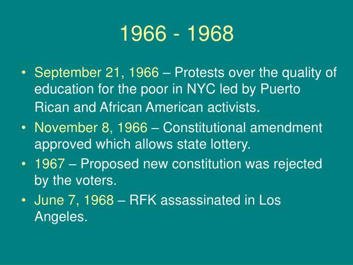 1966 - 1968