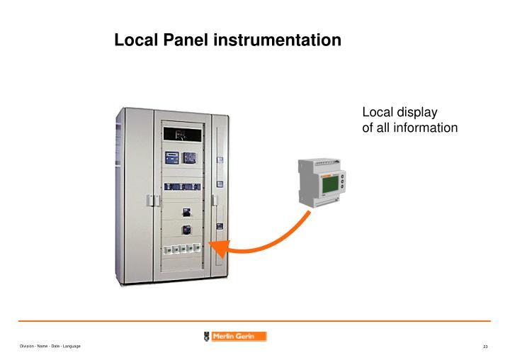 Local Panel instrumentation