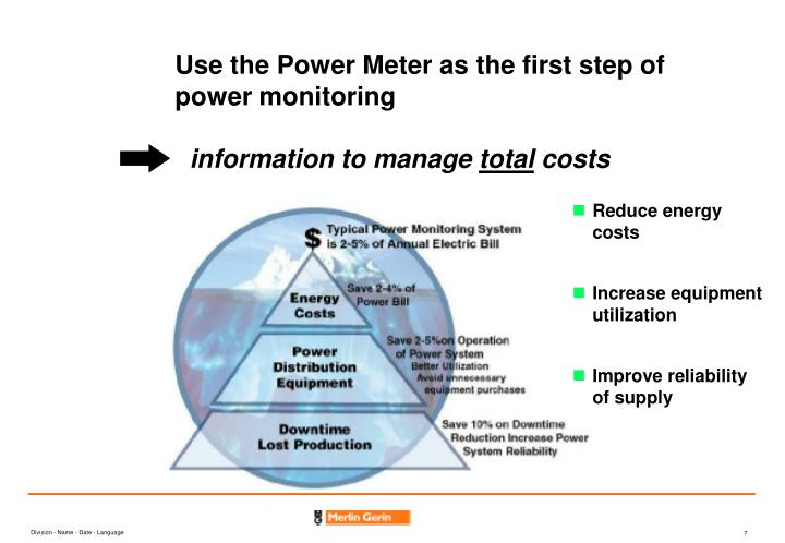 Use the Power Meter as the first step of power monitoring