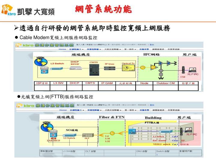 網管系統功能