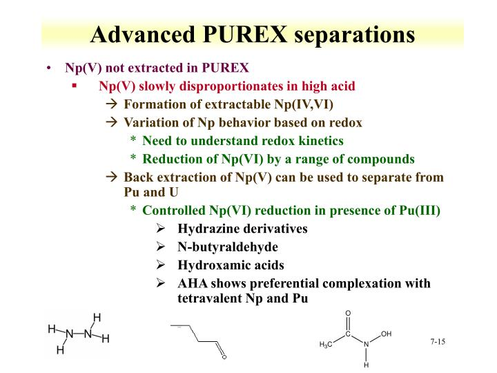 Advanced PUREX separations