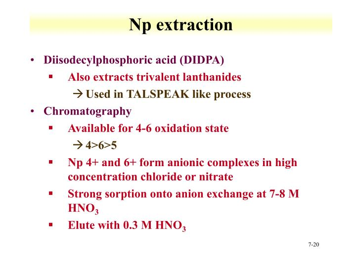 Np extraction