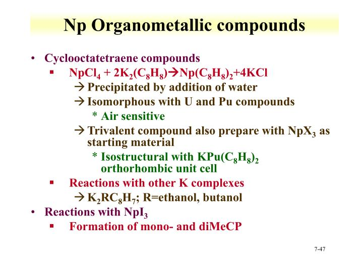 Np Organometallic compounds