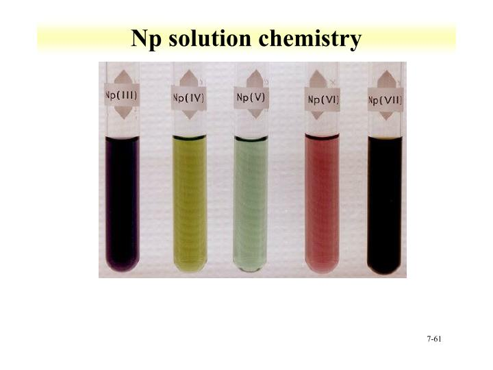 Np solution chemistry