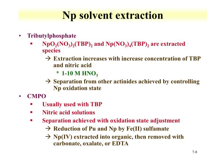 Np solvent extraction