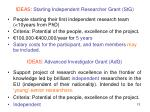 ideas starting independent researcher grant stg