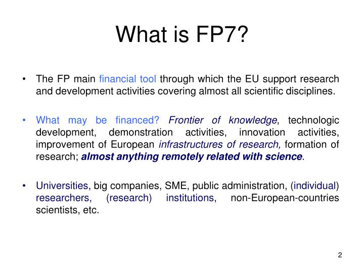 What is FP7?