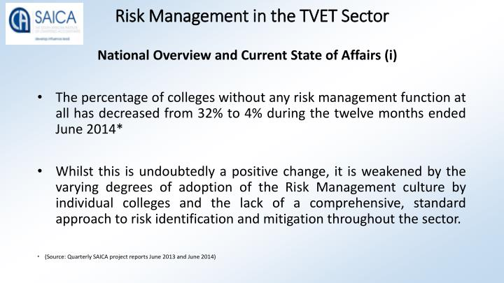 Risk management in the tvet sector1