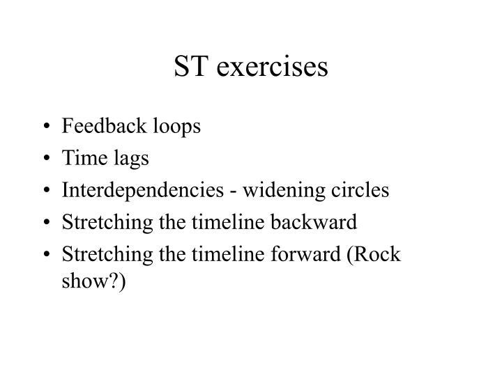 ST exercises