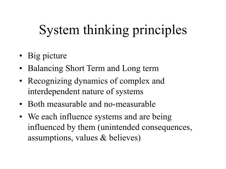 System thinking principles