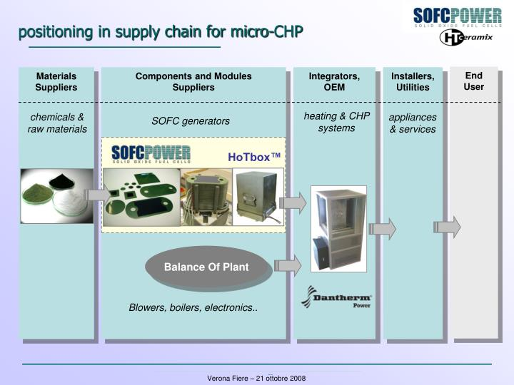 positioning in supply chain for micro-CHP