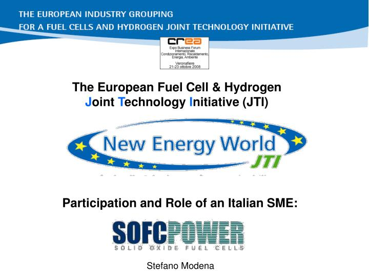 The European Fuel Cell & Hydrogen