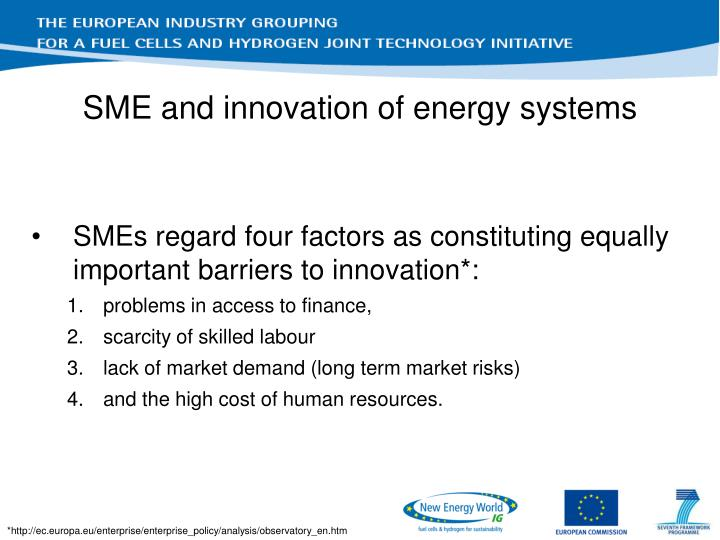 SME and innovation of energy systems