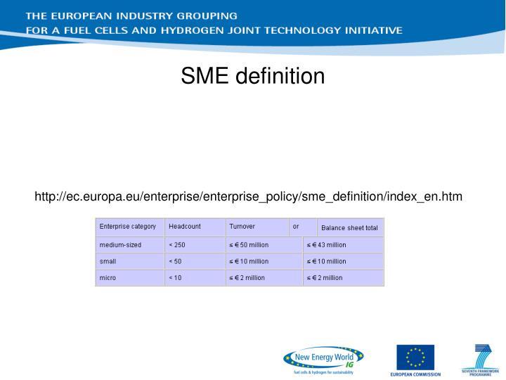 SME definition