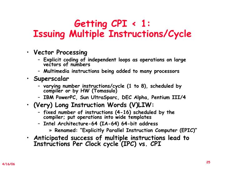Getting CPI < 1:
