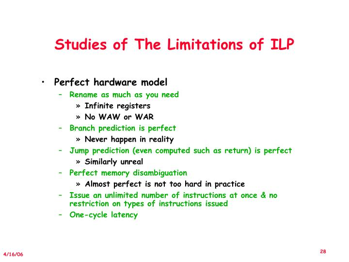 Studies of The Limitations of ILP