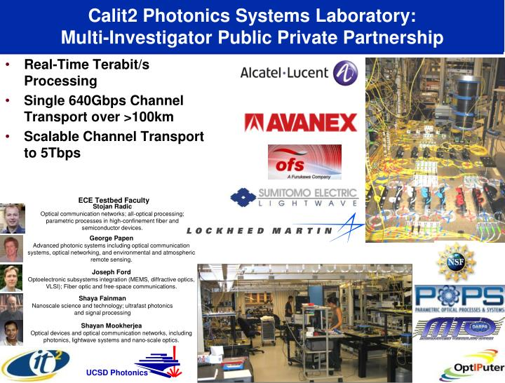 Calit2 Photonics Systems Laboratory: