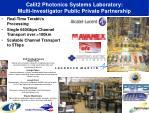 calit2 photonics systems laboratory multi investigator public private partnership