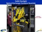 calit2 sunlight optical exchange contains quartzite