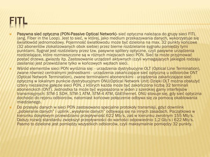 Pasywna sieć optyczna (