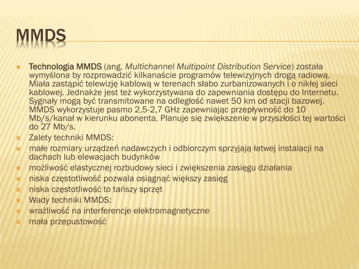 Technologia MMDS