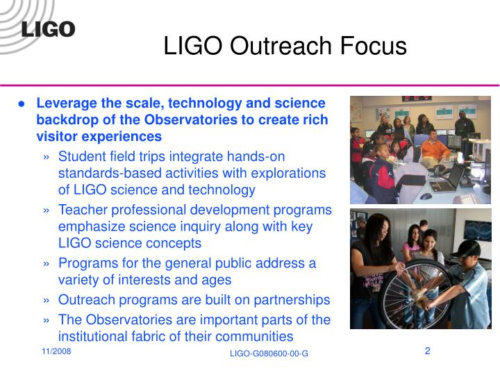 LIGO Outreach Focus