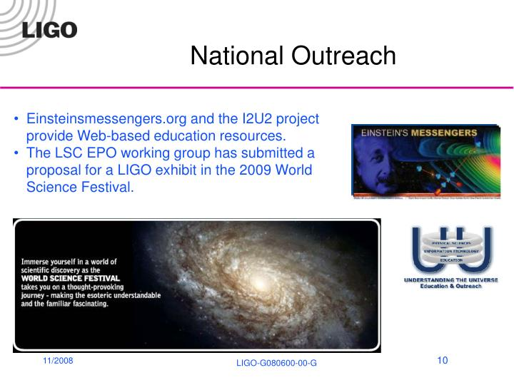 National Outreach
