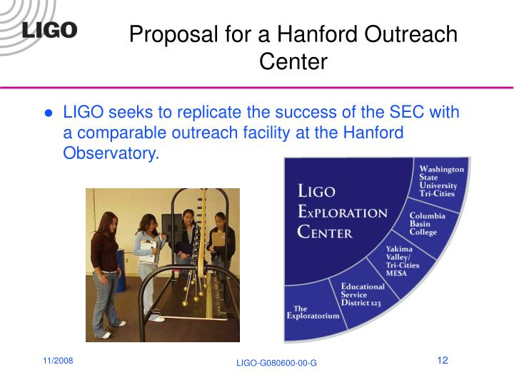 Proposal for a Hanford Outreach Center