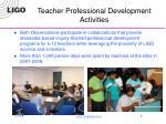 teacher professional development activities