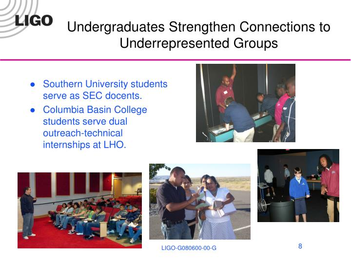 Undergraduates Strengthen Connections to Underrepresented Groups