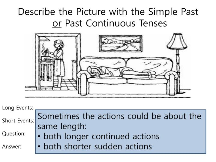 Describe the Picture with the Simple Past